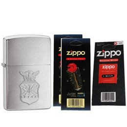 Wholesale Zippo AFC US Air Force Crest Emblem Lighter Flint Cards Wick