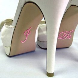 Pink shoes in Europe and America love cute wedding props photo shoot paste stickers wholesale shoes