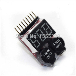 Wholesale 1S S Dual Speaker IN LiPo Battery Voltage Checker Indicator Tester LED low voltage buzzer alarm for S S Lipo Battery
