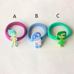 3 Design Children Inside Out PVC ring 2015 new Boy and Girl cartoon Inside Out PVC material ring Children's Jewelry B