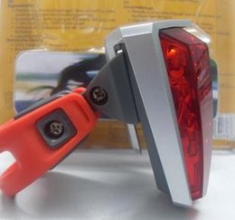 Boxed bicycle rear light warning light headlight bicycle lights bright 5led mechanical rear light