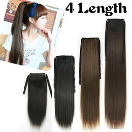 Wholesale sizes long straight ponytails synthetic hair extensions CM CM CM CM