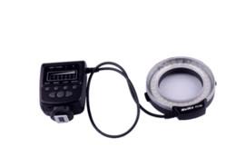FC100 Meike LED de luz de flash anular macro para Canon 650D 7D 60D 50D DSLR 5DII la cámara del envío libre desde meike flash de la cámara fabricantes