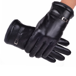 Wholesale-Wool and fur in one gloves male Women waterproof winter gloves thickening thermal gloves genuine leather gloves female