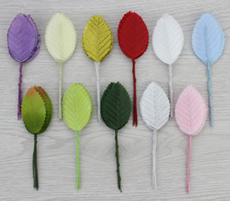 11 colors 200pcs Artificial scrapbooking flower Wedding decorative leaves silk stocking flower party decoration