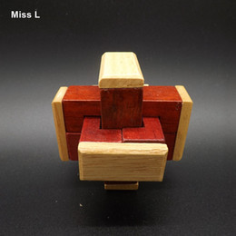 Adult Wooden Kong Ming Lock Puzzle Ancient Wisdom Lu Ban Lock Game Toy Gift Kid Child Teaching Prop Toy