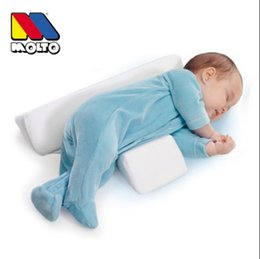 Wholesale HOT Infant Newborn Sleep positioner Anti Roll Pillow With Sheet Cover New Baby Infant Newborn Sleep positioner Anti Roll Pillow