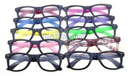 10 Colors New Frame Optical Glasses Frame Plastic Eyeglasses Black Frame Colorful Temples Without Lens Cheap Eyeglasses