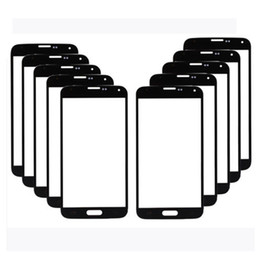 New Black & White Front Screen Outer Glass Lens Replacement For Samsung Galaxy S5 SV i9600 Free Shipping