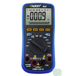 Wholesale OWON B35T Digital Multimeter with Temperature meter Bluetooth interface for Android Tablet mobile with TrueRMS value