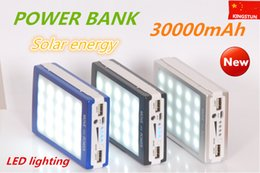 Wholesale mAh Solar Battery LED Panel external Charger Dual mah solar Charging Ports colors choose for Laptop