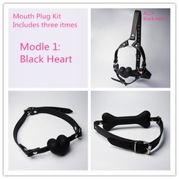 Mouth Plug Kit Sex Products Gags Ball Oral Sex Latex Mouth Plug With Silicone Ball Oral Fixation Slave Gag Mouth Gag