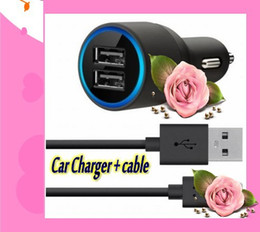 Wholesale 100pcs Port USB Car Charger with Lightning to USB Cable for iPhone S iPod iPad car power inverter W AMP From DHL