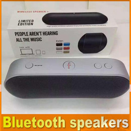 Wholesale New best Pill Bluetooth Speaker Portable Wireless Stereo mini bluetooth Function Handsfree TF USB PC iPhone phone with retail box OM CB2