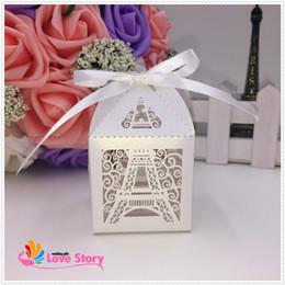 Descuento torre eiffel al por mayor del partido Venta al por mayor de 2015 nueva caja de la torre Eiffel favor de la boda, caja del caramelo, decoración del partido, caja de regalo, cajas de macarons