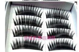 Wholesale-5box= 50 pairs box Naturalfalse artificial eyelashes Handmade deep black eye makeup necessary False eyelash