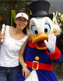 Wholesale Hotsale Mascot Costume Adult Size High Quality Donald Duck Cartoon Character Costumes Fancy Dress Suit