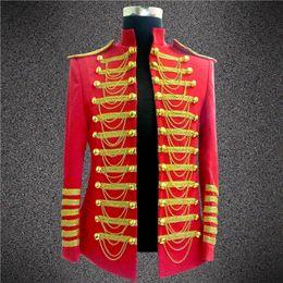Wholesale Fashion Royal Costumes for Men DJ Show Stage Performance Wear Clubwear Best Singer Dance Clothing Tassel Decoration DH