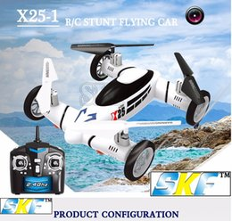 Wholesale Original SY X25 G CH Axis Gyro Air Gronud RC Flying Car Drone with MP Camera Degree Flips Auto Return Quadcopter