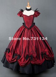 2015 Customized Red Women Renaissance Victorian Ball Gown Sexy Marie Antoinette Victorian Period Dresses Sourthern Belle Party Dress