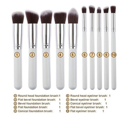 10pcs Makeup Brushes 10pcs Professional Cosmetic Brush Kit Nylon Hair Wood Handle Eyeshadow Foundation Tools