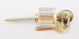 NEW Transparent One Word Kaba lock with Keys Lock pick Locksmith Tools for Training