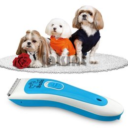 Wholesale Low Noise Cat Hair Clipper - Wholesale-Rechareable Cordless Cat Dog Hair Clippers Pet Grooming Kit Dog Shavers Low Noise Pet Hair Trimmer With Comb RCS47B-66f