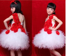 Children's princess dress veil of the girls Flower girl dress skirt dancing Children's clothing piano performance