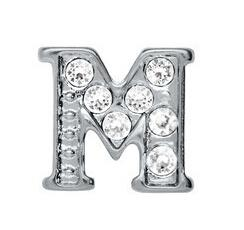 "20pcs lot rhinestone Silver Alphabet Letter "" M "" Charm Fit For Living Magnetic Floating Locket"