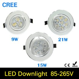 Wholesale 9W w W w W AC85V V V V LED Ceiling Downlight Recessed LED Wall lamp Spot light With LED Driver For Home Lighting
