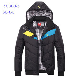 Wholesale Fall Hot selling Anta brand Men s Winter Jacket Hooded Cotton Padded Casual Jackets Wadded Jacket Thick Outdoor Down Parkas Coat R