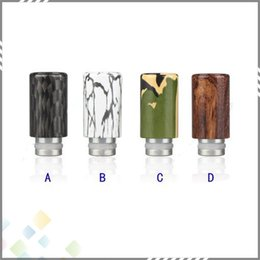 Wholesale Colored Drawing Aluminum Drip Tip for Electronic Cigarette Tank Atomizer New Arrival Drip tips Mouthpiece MM diameter DHL Free