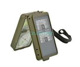 Wholesale Survival Multi function kit in Compass light Whistle Flint Camping Hiking