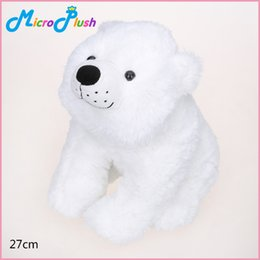 27cm White Polar Bear Stuffed Plush Animal Toy ON THE NIGHT YOU WERE BORN Soft Birthday Gift Christmas