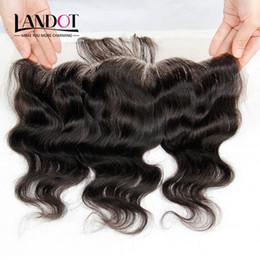 18 black hair à vendre-8e année Chaussure cambodgienne Enveloppe frontale Enceinte corporelle Ondulé Taille 13x4 Enzement complet Frontal 100% Non traitées Cheveux humains vierges naturelles Noir