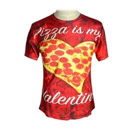 Wholesale Spandex Valentine - Raisevern fashion graphics Pizza is my Valentine print 3D T Shirt unisex summer top for men women 3d harajuku t-shirt casual tee