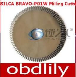 Wholesale Original Raise Tungsten steel double angle cutter machine milling cutter SILCA BRAVO P01W keys BIANCHI DUO locksmith