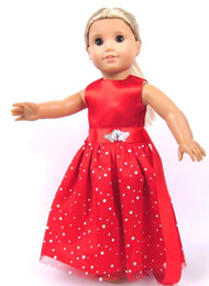 Wholesale New Fashion Christmas Gifts For Children Girls Doll Accessories Handmade Princess Dress For American Girl Doll