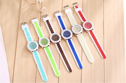 New Geneva Silicone Watches Jelly Watches Strap Watches Candy Color Unisex WristWatch Rose Gold Watches 100pcs Free Shipping