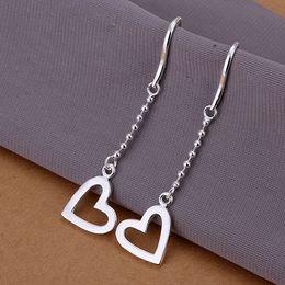 High Quality 925 Sterling Silver EARRINGS Heart Dangle Women's Earrings Good Quality E063
