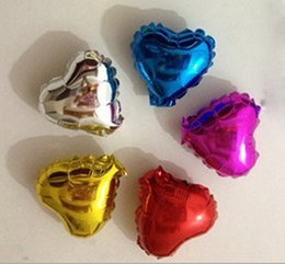 Wholesale Party supplies minion balloons heart shape inch nylon foil aluminum coated color assorted good quality _A