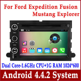 Android 4.4 Car DVD Player GPS Navigation for Ford Explorer Expedition Fusion Mustang with Radio BT TV USB MP3 3G WIFI Head Unit Audio Video