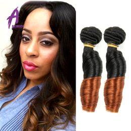 Ombre Hair Extensions Two Tone Blonde 1B 27 Best 6A Cheap Brazilian Curly Ombre Brazilian Body Wave best Virgin Human Hair Weave Bundles