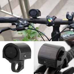 Wholesale Mini bicycle accessories Plastic Bicycle Bike Cycle Ultra loud Electronic Bell Ring Horn Black HW050