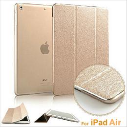 iPad Pro Case Stand Leather Silk Slim clair transparent intelligent couverture arrière pour iPad Mini Air iPad 2 cas de réveil / Fonction sommeil à partir de fonction de retour fabricateur
