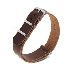 Brown Black Watch Leather Watchband Strap Wristwatch Band 18mm 20mm 22mm 1-east