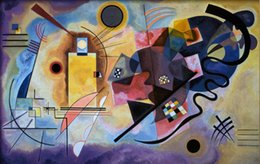 Wholesale oil painting abstract Yellow Red and Blue c by Wassily Kandinsky art Canvas High quality Hand painted
