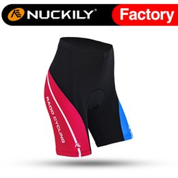 Wholesale Nuckily Bike racing contrast colour paneling padded cycling shorts China short pant with best quality GB002