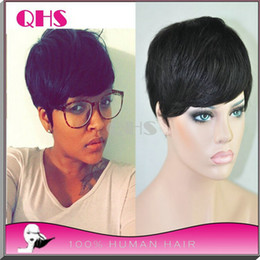 Hot sale human short hair wigs glueless full lace wigs brazilian wigs none lace cheap human wigs for black women
