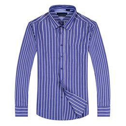 2017 new style 100% Cotton Quality Solid Shirt Men Casual big shirt Shirts striped Oxford Dress Shirt Camisa Masculina